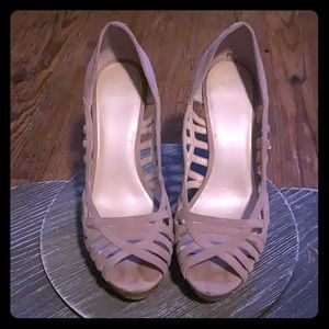 Nine West leather strappy heals, beautiful